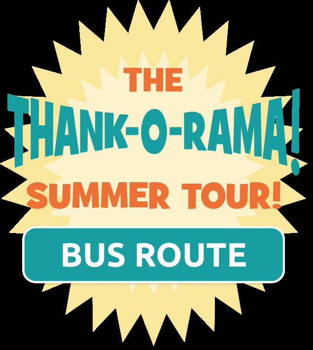 The Thank-o-rama 2018 Tour Bus Route